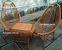 Мебель плетеная в кафе