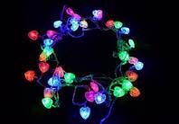 Гирлянда Новогодняя Сердечки 40 led светодиодная