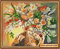 """Набор для вышивки бисером на холсте """"Богини цветения"""" АВ-325"""