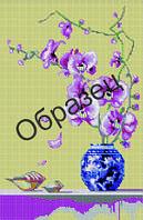 """Схема для вышивки бисером """"Орхидея"""""""