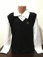 Блуза-обманка школьная для девочек