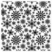 "Фоновый штамп ""Снежинки"" 10,5х10,5(код 03419)"
