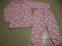 Пижама детская на байке розовая, Турция 86