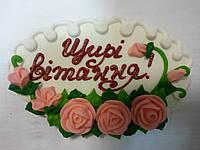 "Открытка сахарная""Розы"" (код 03384)"