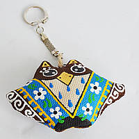 Брелок Сова в синем платке. Украинский сувенир.