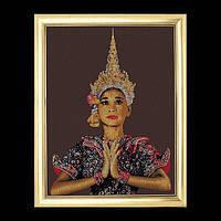 """Набор для вышивки крестом 420 """"Тайская леди (коричневый)"""" Thai Lady (brown) (Теа Гувернер)"""