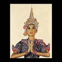 """Набор для вышивки крестом 421 """"Тайская леди (белый)"""" Thai Lady (white) (Теа Гувернер)"""