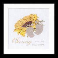 Набор для вышивки крестом 507 Детская метрика Подсолнух,  Birth Sampler Sunny (Теа Гувернер)