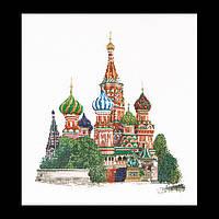 Набор для вышивки крестом 513 Храм Василия Блаженного в Москве, St. Basil's Cathedral Moscow (Теа Гувернер)