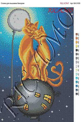 """Схема для вышивки бисером """"Кот"""
