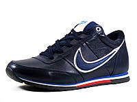 Кроссовки Nike зимние синие натуральные кожаные синие на меху, фото 1