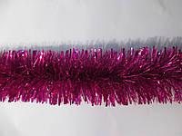 Мишура новогодняя (дождик) 120 мм, длина 3 метра  серебристый