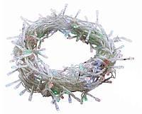 Гирлянда светодиодная Led НИТЬ 300 ламп, 20 метров, Новогодняя Электрическая, Силикон