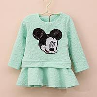 Детское платье с Микки Маусом