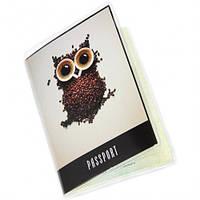 """Обложка на паспорт """"Сова из кофе"""""""