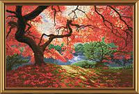 Набор для вышивания нитками на канве Осенние лучи НВ 3006