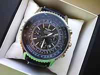 Наручные часы Breitling чёрные в серебре 363
