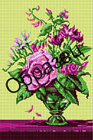 Схема для вышивки бисером «Букет в вазе»