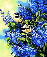 """Картина по номерам """"Птичка на ветвях сирени"""""""