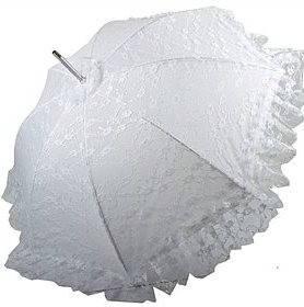 Женский свадебный зонт-трость, механический HAPPY RAIN (ХЕППИ РЭЙН) U70456 белый