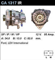 Генератор Ford Transit 92- 2,5DI/TD 92- CA1317IR