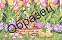 Схема для вышивки бисером «Пасхальная корзинка»