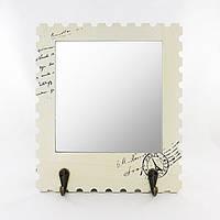 Зеркало настенное с крючками