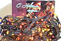 Новогодняя гирлянда 6 м. на 200 микро лампочками.