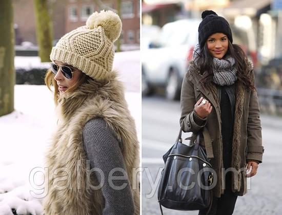 Вязание модных зимних шапок