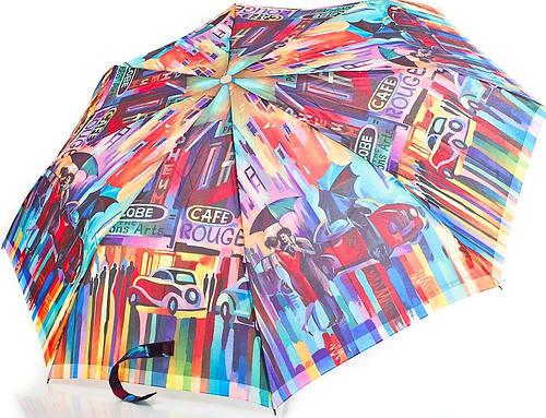 Красочный женский полуавтоматический зонт  ZEST (ЗЕСТ) Z53626A-9  Антиветер!