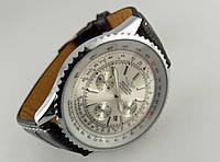 Мужские часы BREITLING кварцевые, серебристый циферблат, стальной корпус
