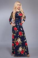 Платье женское Роза мод 356 ,размер 44,46,48 цветок мелкий.