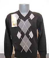 Пуловер шерстяной для мальчиков Ромбы
