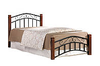Кровать односпальная Маргарет 90х200 каштан