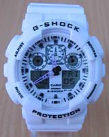 Часы Casio(Касио) G-Shock GA100 белые
