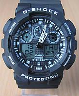 Часы Casio(Касио) G-Shock GA100 черные с белыми буквами