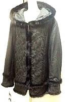 Куртка Larssny с капюшоном и отделкой из норки большие размеры