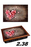 Поднос на подушке Цветы сердца