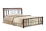 """Кровать двухспальная """"Кэлли""""1400х2000каштан"""