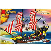 Конструктор 308 Пиратский корабль, шхуна, Brick, Брик, корабль Пиратов