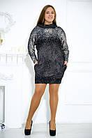 Стильное платье-туника с капюшоном