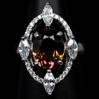 Необычный перстень с аметрином, размер 16,73 от студии LadyStyle.Biz