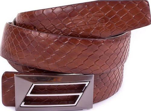 Мужской необычный кожаный ремень ETERNO (ЭТЭРНО) ET1306-9 коричневый