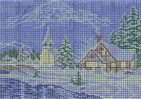 Схема для вышивки бисером Новогодний пейзаж КМР 4029