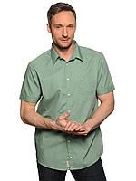 Мужская рубашка с коротким рукавом Mustang Shirt James (M) зеленая