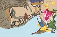 Схема для вышивки бисером «Женщина с птицей»