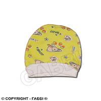 Детская шапочка Малютка, байка, на резинке для новорожденных