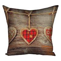 Подушка Сердечная гирлянда