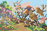 Схема для вышивки бисером «Птицы в лесу»