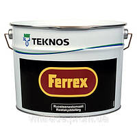 Краска-грунт по металлу Текнос Феррекс, 3л, черная